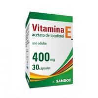 Vitamina E - Sandoz 400mg, caixa com 30 cápsulas