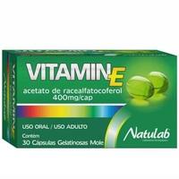 Vitamin E 400mg, caixa com 30 cápsulas