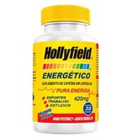 Energético Hollyfield 400mg, 3 frascos com 30 cápsulas cada