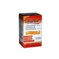 Cobavital 0,8mg/mL, caixa com 1 frasco com 98mL de xarope pediátrico + 4mg/g, 1 envelope com 5g de pó para preparo extemporâneo