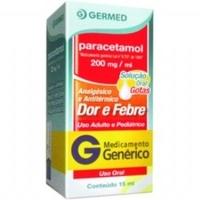 Paracetamol Germed Pharma 200mg/mL, caixa com 1 frasco gotejador com 15mL de solução de uso oral