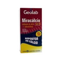Miracálcio Vit D 500mg + 400UI, caixa com 60 comprimidos revestidos