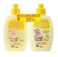Kit Cheirinho de Bebê Cabelos Cacheados shampoo, 1 unidade com 210mL + condicionador, 1 unidade com 210mL