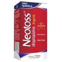 Neotoss 3mg/mL, caixa com 1 frasco com 100mL de xarope + copo medidor