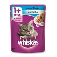 Ração para Gatos Whiskas Adulto Sachê Atum ao Molho, 85g