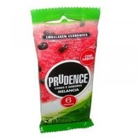 Preservativo Prudence Cores e Sabores melancia com 6 unidades