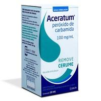 Aceratum 100mg/mL, caixa com 1 frasco gotejador com 10mL de solução de uso otológico