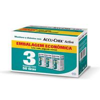 Tiras Medidoras de Glicose Accu-Chek Active 3 caixas com 50 unidades