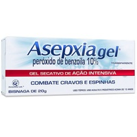 Asepxia Gel 100mg/g, bisnaga com 20g