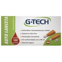 Auto Lanceta Automática G-tech 28G, laranja, 100 unidades