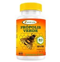 Própolis Verde + Vitamina E Apis Life 400mg, frasco com 60 cápsulas