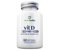 Vitamina D3 Nature Healthy 2000UI, frasco, 1 unidade com 60 cápsulas softgels