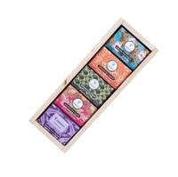 Kit Sabonetes Puro Vegetal Orgânica abacate + chá branco + pêssego + franboesa + lavanda, barra, 5 unidades com 90g cada