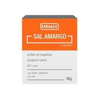 Sal Amargo Farmax caixa com 30g de pó para solução de uso oral