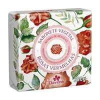 Sabonete Davene Vegetal Rosas - vermelhas, barra, 200g
