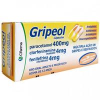 Gripeol 400mg + 4mg + 4mg, caixa com 20 cápsulas gelatinosas duras