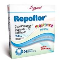Repoflor 200mg/g, caixa com 4 envelopes com 1g de pó para solução de uso oral