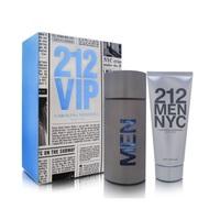 Kit Masculino Carolina Herrera 212 Men perfume, eau de toilette com 100mL + gel de barbear com 100mL