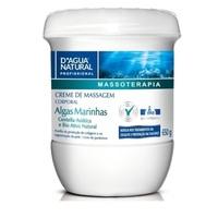 Creme de Massagem Corporal D'Água Natural Massoterapia algas marinhas, 650g