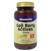 Goji Berry com Cromo VitaminLife Actives 60 Cápsulas