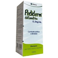 Pediderm 0,2mg/mL, frasco com 100mL de shampoo