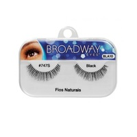 Cílios Postiços Kiss New York Broadway Eyes fios naturais, 1 par, ref.747S