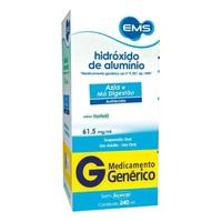 Hidróxido de Alumínio EMS 61,5mg/mL, caixa com 1 frasco com 240mL de solução de uso oral