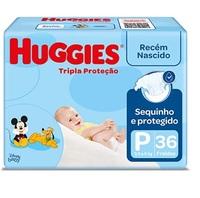 Fralda Huggies Turma da Mônica Tripla Proteção P, pacote com 36 unidades