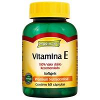 Vitamina E Maxinutri frasco com 60 cápsulas