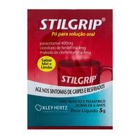 Stilgrip 400mg/g + 4mg/g + 4mg/g, envelope com 5g de pó para solução de uso oral