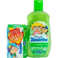 Shampoo Infantil Baruel Turma da Xuxinha Camomila 210mL + grátis sabonete, barra, 80g