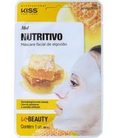Máscara Facial de Algodão Kiss New York K-Beauty mel com 1 unidade