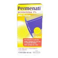 Permenati 10mg/mL, caixa com 1 frasco com 60mL de loção de uso dermatológico