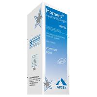 Moment 0,25mg/mL, caixa com 1 frasco com frasco com 60mL de solução de uso dermatológico