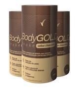 Shake Eleve Body Gold chocolate, 3 frascos com 400g cada