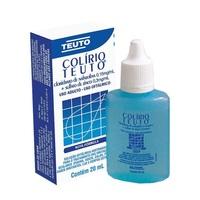 Colírio Teuto 0,15mg/mL + 0,3mg/mL, caixa com 1 frasco gotejador com 20mL de solução de uso oftálmico