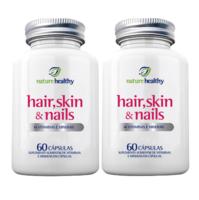 Hair, Skin & Nails Nature Healthy frasco, 2 unidades com 60 cápsulas cada