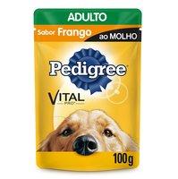 Ração Úmida para Cães Pedigree Vital Pro Adulto Frango ao Molho, 100g