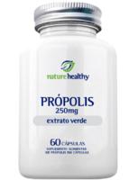 Extrato de Própolis Verde Nature Healthy 250mg, frasco, 1 unidade com 60 cápsulas