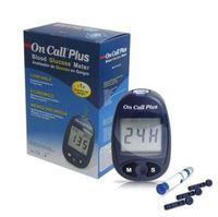 Monitor de Glicose On Call Plus 1 unidade + lancetador + lancetas, 10 unidades