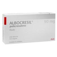 Albocresil 90mg/g, caixa com 6 óvulos ginecológico