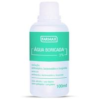 Água Boricada 3% - Farmax Solução dermatológica com 100mL