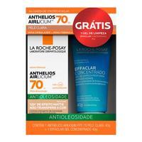 pele clara, FPS 70 com 40g + gel de limpeza facial effaclar com 40g