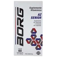 Suplemento Vitamínico Borg Sênior AZ 1000mg, frasco com 60 cápsulas