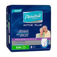 Roupa Íntima Plenitud Active Plus P/M, 8 unidades