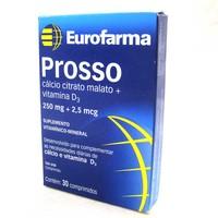 Prosso 250mg + 2,5mg, caixa com 30 comprimidos