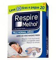 Dilatador Nasal Respire Melhor Pele Normal, Médio, Leve 30 Pague 20