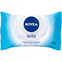 Sabonete Hidratante Nivea leite, barra, 90g
