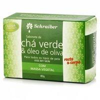 chá verde e óleo de oliva, barra, 80g