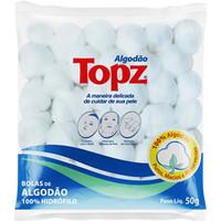 Algodão Topz bolas, branco com 50g